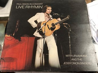 Paul Simon in concert live rhymin 1974 skick Vg pop rock lugna låtar mm