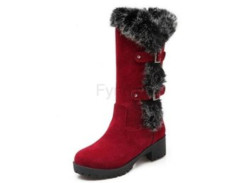 Dam Boots For Cold Winter Botas Women Footwears Red 40