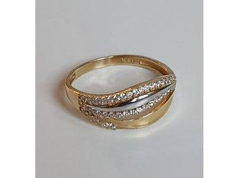 Moderne 18k Karat Guldring Guld Ring Vit Guld 750 (359126125) ᐈ Köp på VS-53