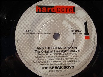"THE BREAK BOYS - AND THE BREAK GOES ON 7"" 1985"