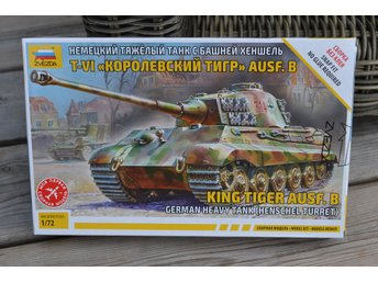 German Heavy Tank Tiger KING Henschel (Sd.Kfz.182) 1:72 Zvezda Pansarvagn Ny - Vännäs - German Heavy Tank Tiger KING Henschel (Sd.Kfz.182) 1:72 Zvezda Pansarvagn Ny - Vännäs