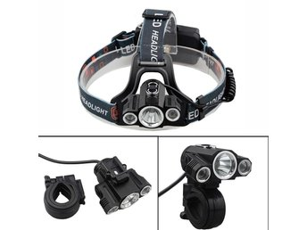 6000 Lumens CREE 3 x T6 LED Headlamp Bicycle Torch Head Lamp
