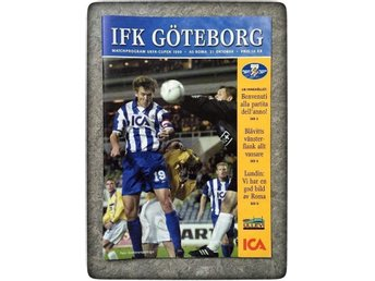 IFK Göteborg – AS Roma 1999 UEFA cup match program Aldair Totti Capello Blåvitt