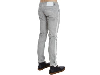 ACHT - Gray Wash Cotton Stretch Slim Skinny Fit Jeans