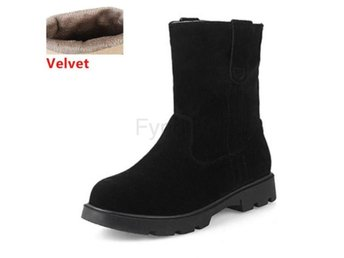 Dam Boots Calf Boots For Women Footwears black velvet 40