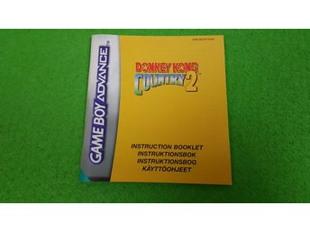 Donkey Kong Country 2 Manual Gameboy Advance Nintendo GBA