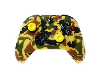 Camouflage Silicone Gamepad Cover for XBox One X S Yellow Fri Frakt Ny