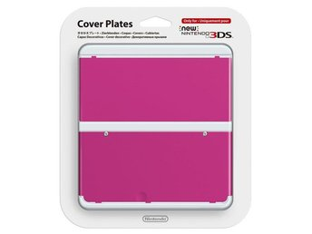New Nintendo 3DS Coverplate Pink Clean (032)
