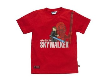 LEGO STAR WARS, T-SHIRT ANAKIN SKYWALKER, RÖD (128)