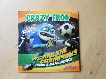 CD-singel Crazy Frog - We are the champions (Ding a dang dong) med videoclip
