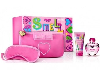 Giftset Moschino Pink Bouquet Edt 100ml + BL 100ml + Lip Gloss 10ml