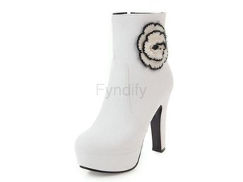 Dam Boots For Cold Winter Botas Women Footwears White 40