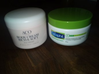 Cetaphil moisturizing cream, Aco body cream