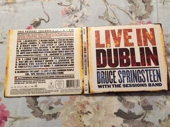 Bruce Springsteen With The Sessions Band - Live In Dublin (2 cd och 1 dvd)