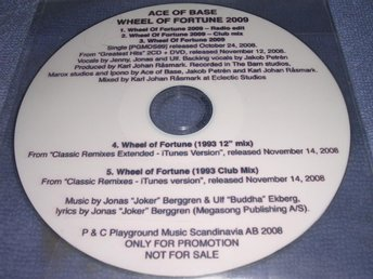 Ace of Base - Wheel of Fortune 2009 Rare Promo