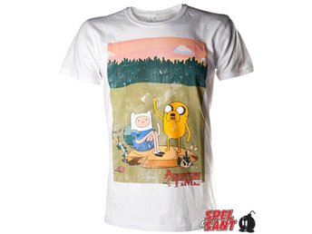 Adventure Time Finn and Jake T-Shirt Vit (Large)