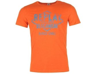 Ny Replay orange mjuk Tshirt, L, snabb leverans