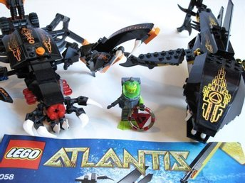 Lego Atlantis Guardian of the Deep Striker 8076 8058 skorpion haj