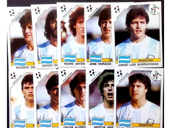 PANINIs  STICKERS - ITALY 90 -  ARGENTINE  PLAYERS.