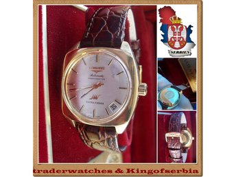 LONGINES @ ULTRA CHRON Automatic Guld watch 18K..0.750 Circa.1965 !!!