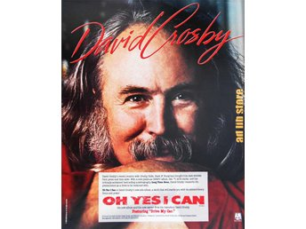 DAVID CROSBY - OH YES I CAN, STOR TIDNINGSANNONS 1989 - öckerö - DAVID CROSBY - OH YES I CAN, STOR TIDNINGSANNONS 1989 - öckerö