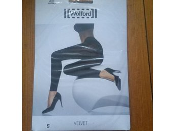 Wolford Velvet leggings - färg: electric - strl: S