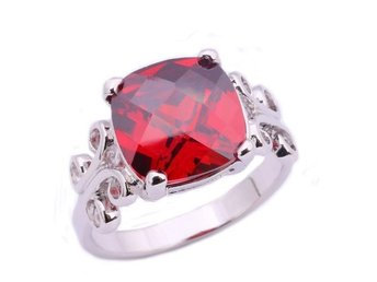 Fashion Jewelry Gemstone Silver Ring Size 16