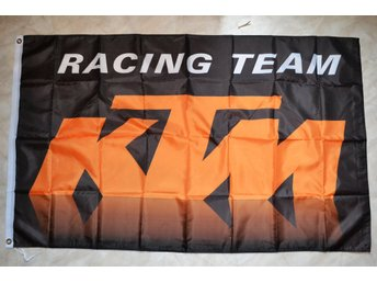 KTM Racing Team Flagga 90*150cm (Cross, Motorcross, Orange) Ny