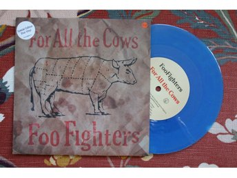 Singel, vinyl, Foo Fighters, For all the cows, blå, alternative rock, 1995
