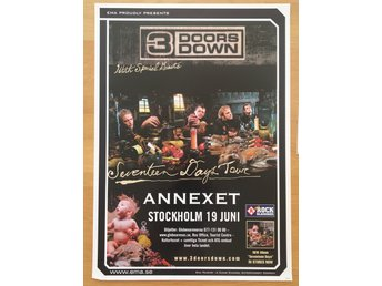 Poster 3 Doors Down Seventeen Days Annexet