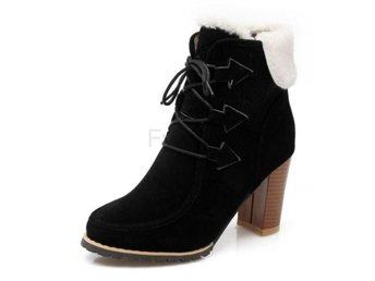 Dam Boots Shoes Female Daily Sweet Footwears Black 40