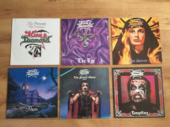 Paket med 6 st Vinyl- King Diamond