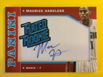 MAURICE HARKLESS: 2012-13 Panini Rated Rookie Signatures #12 50ex