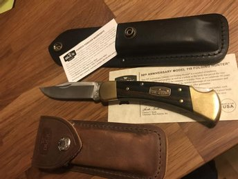 Fällkniv Buck 110 50th Anniversary Edition + custom sheath