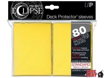 Ultra Pro Eclipse Deck Protector Pro-Matte Yellow 80 Pack