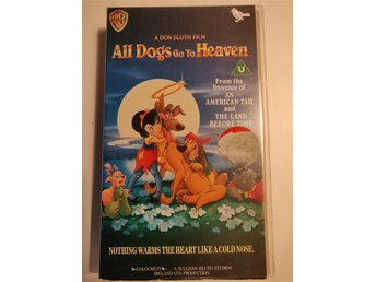 All Dogs Go To Haeven. VHS Engelsk Version.