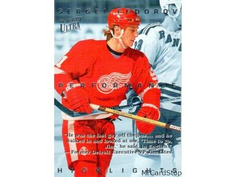 Ultra 1994-95 Sergei Fedorov Highlights 5 Sergei Fedorov Detroit Red Wings