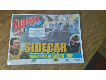 Motocross Sidecar in Saxtorp 2001 program