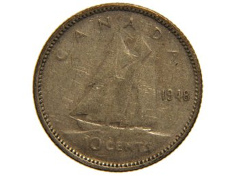 Canada 10 cents 1948