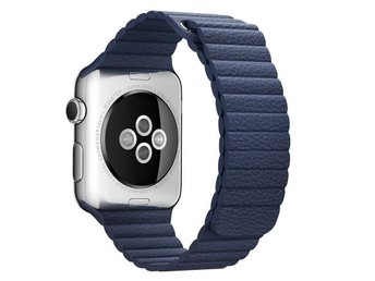 Leather Loop 42/44mm Apple Watch Armband - (BLUE)