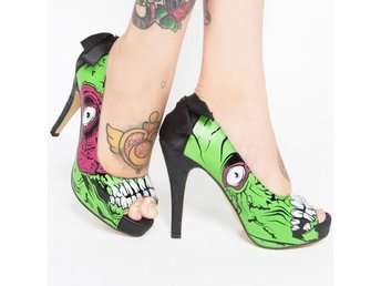 Iron fist zombie skor pumps storlek 37 36 goth rockabilly retro punk burlesque