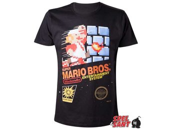 Nintendo Super Mario Bros Boxart T-Shirt Svart (Medium)