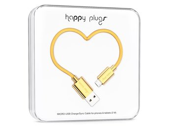 BUTIK - HAPPY PLUGS MICRO-USB TO USB CABLE (2 M) GOLD