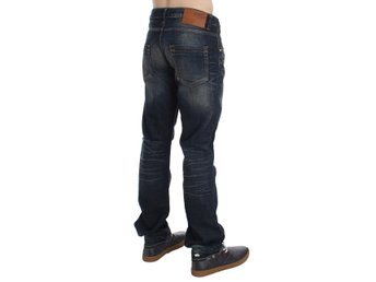 ACHT - Blue Wash Straight Fit Low Waist Jeans