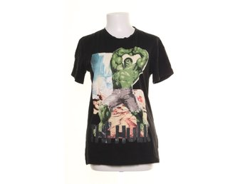 H&M, T-shirt, Marvel The Hulk, Strl: 170, Svart/Grön