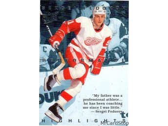 Ultra 1994-95 Sergei Fedorov Highlights 2 Sergei Fedorov Detroit Red Wings