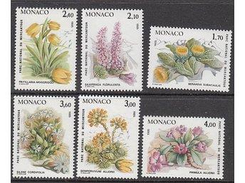 Monaco 1985. Mi. nr: 1683-88 ** Vackra Blommor - Njurunda - Monaco 1985. Mi. nr: 1683-88 ** Vackra Blommor - Njurunda