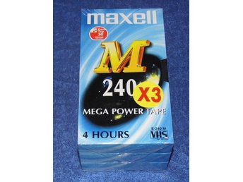 Maxell VHS band 3 pack