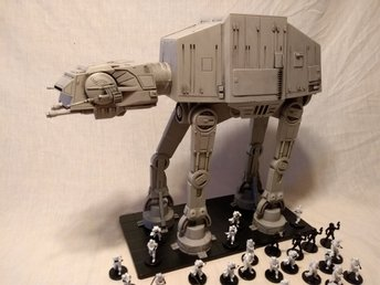 Star Wars miniatures,AT-AT,Snowtroopers,(R) Vader,General Veers,e-Web blaster mm