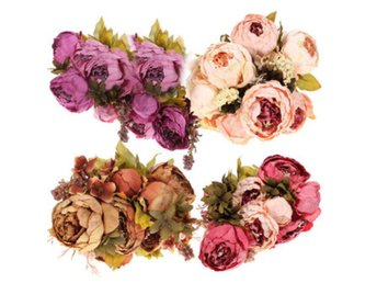 Artificial Peony Bouquet Artificial Silk Flowers Home Wed...